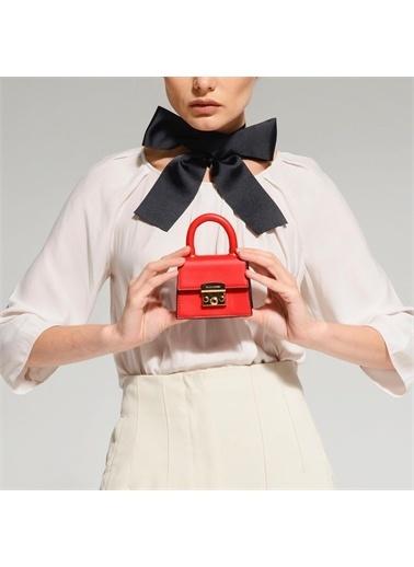 Black Ribbon Kilitli Mini Çanta Kırmızı